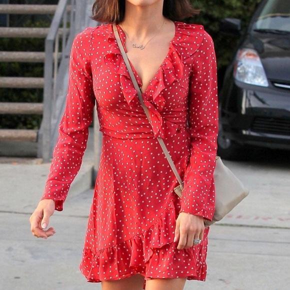 46c2a84215 Realisation Par Diane Mini Red dress xs star. M 5b6662ef9264af454610ed4c